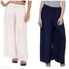 Palazzos Women's Solid Pack of 2 Palazzo Fabric: Rayon Waist Size: Up To 28 in To 42 in (Free Size ) Length: Up To 39 in Type: Stitched Description: It Has 2 Pieces Of Women's Palazzos  Pattern: Solid Country of Origin: India Sizes Available: Free Size, 28, 30, 32, 34, 36, 38, 40   Catalog Rating: ★4.1 (454)  Catalog Name: New Fabulous Rayon Women's Palazzos Vol 15 CatalogID_558588 C79-SC1039 Code: 353-3960397-
