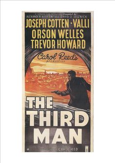 Written by Graham Greene. The famous line about the Renaissance & the cuckoo clock was an ad-lib by Orson Welles. Charles Foster, Trevor Howard, Cinema Posters, Movie Posters, Devin Art, Carol Reed, Joseph Cotten, Graham Greene, The Third Man