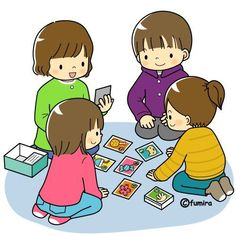 Playing a game (visual) I School, School Classroom, Play School Activities, School Clipart, Cartoon Kids, Colouring Pages, Kids Learning, Card Games, Cute Pictures
