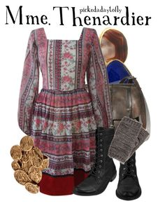"""Mme. Thenardier"" by pickedadaytofly ❤ liked on Polyvore featuring Dara Ettinger, Monica Vinader, MIA, Pieces, LowLuv, les miserables and helena bonham carter"