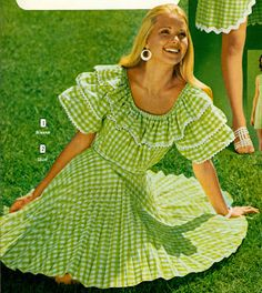 Gingham was IN in the early 70s! We all had one or two.