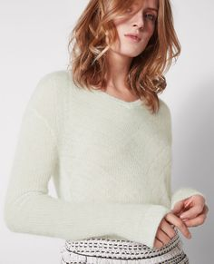 Jumper with mohair and wool
