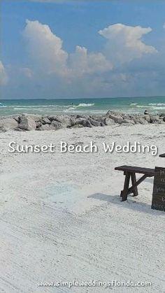#simpleweddings #destinationwedding #floridawedding #beachwedding #weddingdecorations #beachceremony Wedding Planner, Destination Wedding, Sunset Beach Weddings, Beach Video, Destin Florida Wedding, Anna Maria Island, Beach Ceremony, Treasure Island, Ceremony Decorations