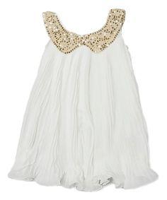 Royal Gem White Yoke Dress - Infant, Toddler & Girls | zulily