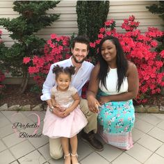 Beautiful interracial family after church on Easter Sunday #love #wmbw #bwwm #swirl #biracial