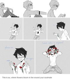 i dont ship davejohn but this is a great au idea and beautiful art