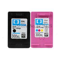 2 Compatible Ink cartridge for hp300 XL CC641E CC644E for HP Deskjet D1660 D2560 D5560 F2420 F2480 F4210 F4272 F4280 F4580