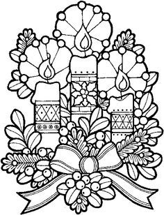 Christmas Wreath Colouring Page As Well Many Other Coloring