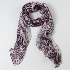 Animal Print Lacy Scarf | Claire's