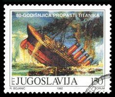 Yugoslavia Postage Stamp with Image of RMS Titanic.