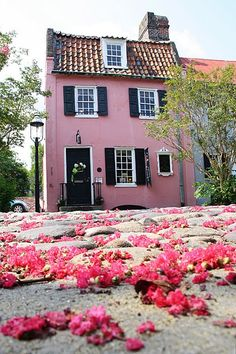 The Pink House in Charleston, S. (Art Gallery in Charleston) Pink Love, Pretty In Pink, Pretty Art, I Believe In Pink, House Inside, Pink Houses, Down South, Oh The Places You'll Go, The Fresh