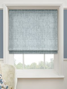 Eternity Linen Blue Mist Roman Blind from Blinds 2go