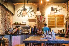 In Girona, Spain, specifically at the coffee shop called La Fabrica, one steps into the lives of pro cyclists. This is home for them.