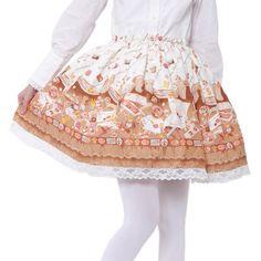 Rose letterスカート