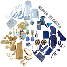 Alpha Xi Delta Colors, created by deltagammacj on Polyvore