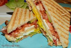 Grilled Tomato and Brie Sandwiches Brie Sandwich, Sandwiches, Grilled Tomatoes, Grilling, Vegetarian, Favorite Recipes, Healthy, Cheese, Food Food