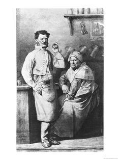 Victor Hugo drawing - the Thenardier's