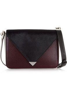 Alexander Wang Prisma leather and calf hair shoulder bag | NET-A-PORTER