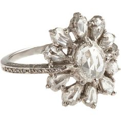 Cathy Waterman Diamond Scattered Ring.  Polyvore