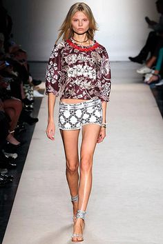 Isabel Marant Spring 2013 Runway...pattern mixing that works