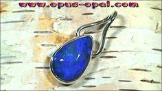 Sterling Silber Anhänger mit großem Black Crystal Opal