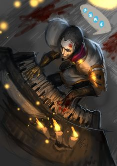 jhin fanart, Quang Do on ArtStation at https://www.artstation.com/artwork/kWdzn
