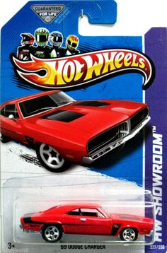 1969 Dodge Charger R/T Hot Wheels 2013 Showroom #223/250 Red w/Black Stripes #HotWheels #Dodge