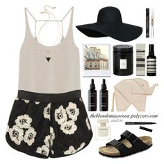 """01.07.15"" by theblondemacaroon ❤ liked on Polyvore featuring Zara, House of Harlow 1960, Birkenstock, Kate Spade, Flash Tattoos, Voluspa, Aesop and Bobbi Brown Cosmetics"