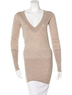 Cashmere Sweaters, Rib Knit, Runway Fashion, Beige, Long Sleeve, Sleeves, Dresses, Style, Taupe