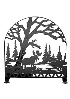 30 Inch W X 30 Inch H Moose Creek Arched Fireplace Screen - 30 Inch W X 30 Inch H Moose Creek Arched Fireplace ScreenA love of the outdoor was the inspiration for thesehandsome Meyda original fire screens, hand crafted in the USA. This Moose in the woods fire screen has a Blackfinish. Theme: RUSTIC LODGE Product Family: Moose Creek Product Type: FIREPLACE SCREENS Product Application: Color: BLACK Bulb Type: Bulb Quantity: Bulb Wattage: Product Dimensions: 30H x 30W x 14.5DPackage Dimensions…