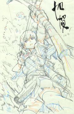 【艦これ】アニメーター・椛島洋介氏による加賀さんのイラストが美しくカッコイイ・・・!! : そくどく!