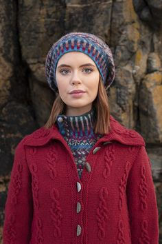 Graceknot cardigan and Marina hat set patterncard knitwear designs by Alice Starmore Doodle Designs, Card Patterns, Teenage Years, Celtic Knot, Knitwear, My Design, Winter Hats, Alice, Coast