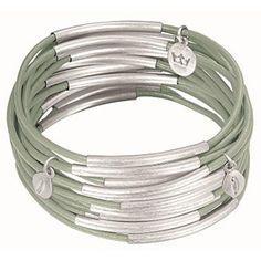 Urban Gypsy Bracelet Light Green and Silver