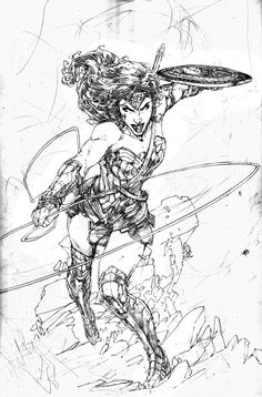 Wonder Woman by Brett Booth Comic Style Art, Comic Styles, Comic Books Art, Comic Art, Brett Booth, Dc Comics Collection, Otaku, Fantasy Heroes, Star Comics