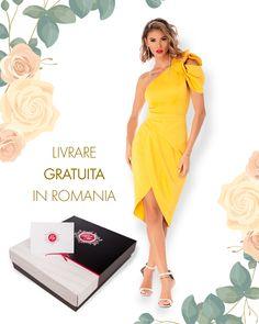 Rochie disponibila pe www.bby.ro Glow, Dresses For Work, Product Description, Collection, Fashion, Moda, Fashion Styles, Sparkle, Fashion Illustrations