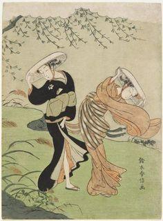 """[写真] これぞ浮世絵に見るチラリズム!鈴木春信の描く""""風に吹かれる美人たち""""の実にセクシーなことよ(Japaaan) - エキサイトニュース"""