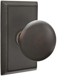 Emtek Providence Knob With Rectangular Rosette In Oil Rubbed Bronze