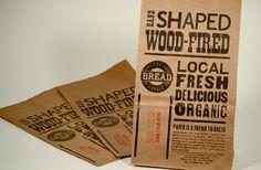 The Bread Garage letterpressed paper bags via The Beauty of Letterpress