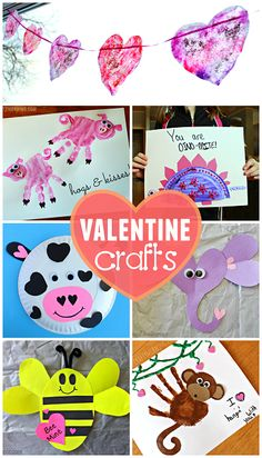 Easy and Creative Valentine's Day Crafts for Kids to Make! Valentine's Day Crafts For Kids, Valentine Crafts For Kids, Valentines Day Activities, Holiday Crafts, Homemade Valentines, Valentine Ideas, Fun Activities, Kinder Valentines, Bear Valentines