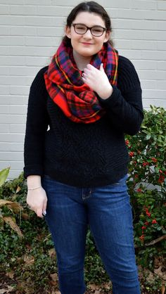 Beauty & Blazers: blanket scarf and boot socks outfit