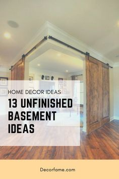 13 Unfinished Basement Ideas to Increase Your Home Value - Decorfame 13 Unfinis. 13 Unfinished Basement Ideas to Increase Your Home Value – Decorfame 13 Unfinished Basement Idea Unfinished Basement Playroom, Basement Gym, Basement Makeover, Basement Remodeling, Basement Ideas, Unfinished Basements, Open Shelving Units, Cinder Block Walls, Gym Room