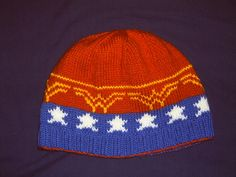 Beanie is knit in th