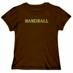 LINE WORD Handball Sports Womens T-Shirt (Brown, Size Large) TopExpressions. $13.99