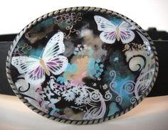 Womens Belt Buckle   Butterflies R Free  Add a by MnMTreasures, $20.00