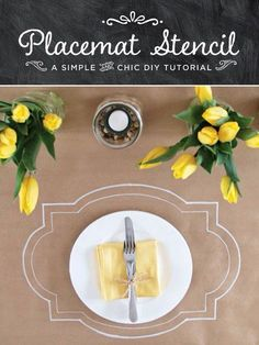 Brown paper tablecloth & chalk placemat