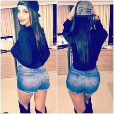http://nicejeans.net/brazilian-instagram-girl-in-jeans-shorts-and-black-overknees/ #IG Girls  #Shorts  #brazilian  #Eduarda Vieira  #jeans and boots  #jeans and overknees  #latina in jeans  #latina teens  #teen girls in jeans
