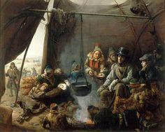 Orléansin herttua nauttii vieraanvaraisuutta saamelaiskodassa elokuussa 1795. Öljyvärimaalaus vuodelta 1841. Tämäkin François-Auguste Biardin maalaus on esillä Rovaniemen taidemuseossa keskiviikosta 22. 2. alkaen.