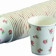 100 PACK 200ml Disposable Paper Coffee Tea Drink Cups for Party Picnic HG1390