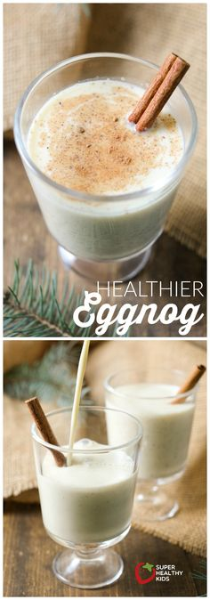 Eggnog - Smoothies & other drinks - Want to enjoy eggnog without all the guilt? We've developed a homemade eggnog recipe that will le - Super Healthy Kids, Healthy Meals For Kids, Kids Meals, Yummy Drinks, Healthy Drinks, Healthy Snacks, Healthy Nutrition, Healthy Recipes, Homemade Eggnog