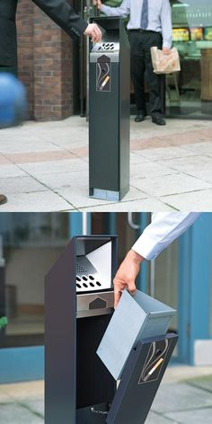 Ashguard™ is a free-standing cigarette disposal unit which can hold up to 1,400 cigarette butts. #GlasdonUK #CigaretteBin #CigaretteDisposal